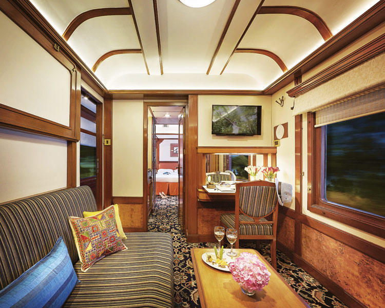 The deluxe luxury train is equipped with four Presidential Suites