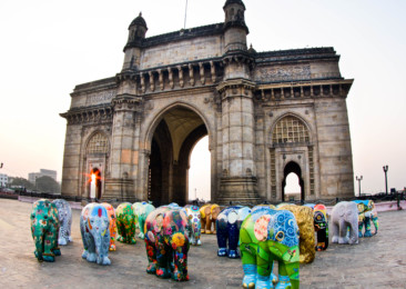 India welcomes 101 artistic elephant sculptures