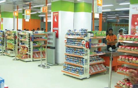 Spencer's is one of the key players in the organised retail market, with 128 outlets in 40 cities across India