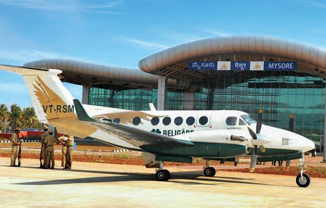 Mysore Airport, developed at a cost of INR 820 million, started its commercial operation in 2010