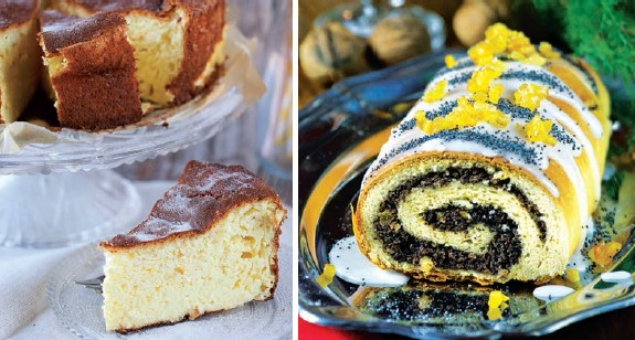 Don't choose, have both: the Sernik (cheesecake), on the right, and the Makowiec, poppie seeds cake