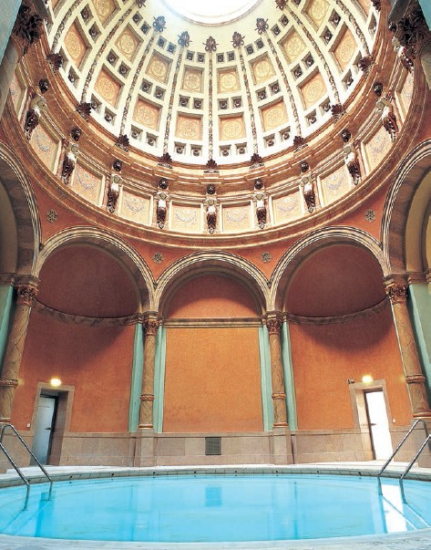 Experience Roman bathing culture combined with Irish hot-air baths at Friedrichsbad;