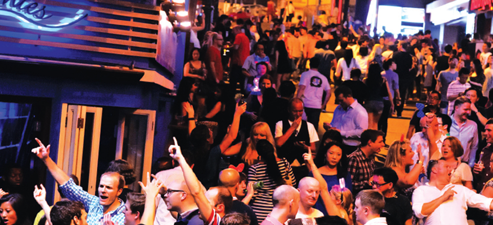 Lan Kwai Fong on Hong Kong Island is the perfect place for night out