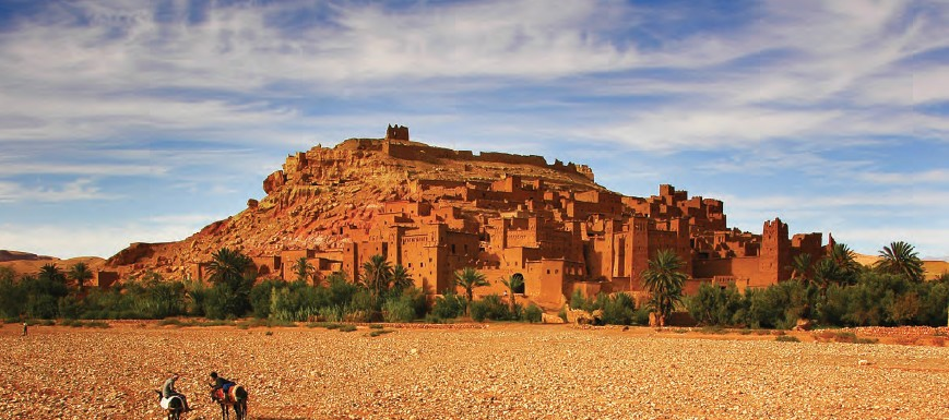 Kasbah of Aït Benhaddou, identified as UNESCO World Heritage Site in 1987, is a fortified city in Morocco