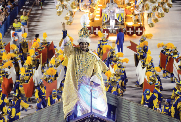 "The Unidos da Tijuca showed a parade full of glamour with the theme ""A Tale marked in time - The Swiss look of Clovis Bornay"""