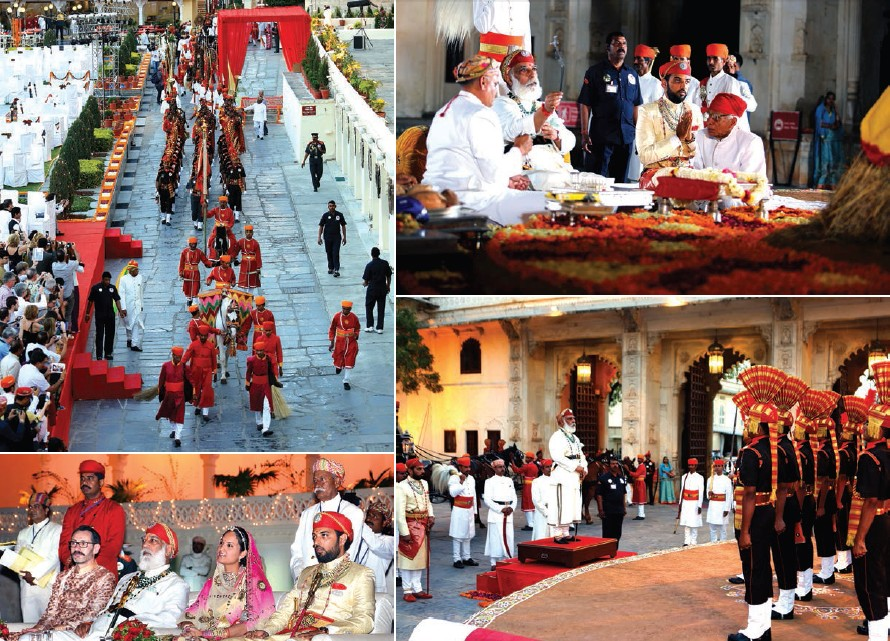 Descendants of former royal family of Mewar performing different rituals during Holika Dahan