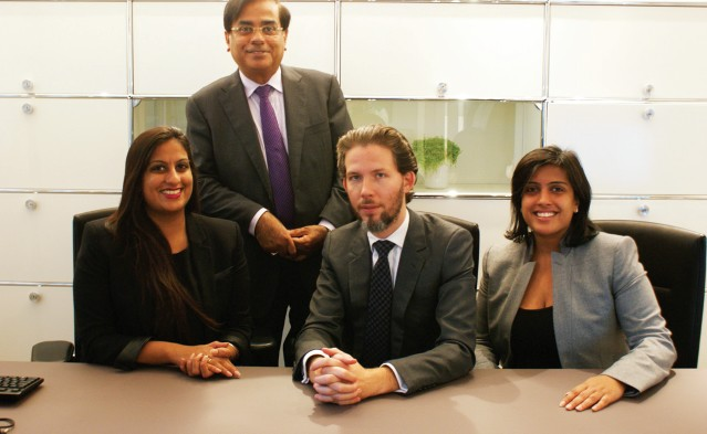 (L-R) Anne Malhotra, Communications Director; Vinod Kumar Malhotra, Co-founder and Director of Buying; Emmanuel Monge, Strategy and Business Development Director; Anjila Malhotra-Monge, CEO and Finance Director