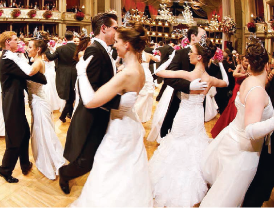 A traditional ball in an Opera house