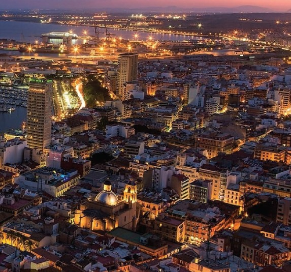 A panoramic view of Spanish city Alicante