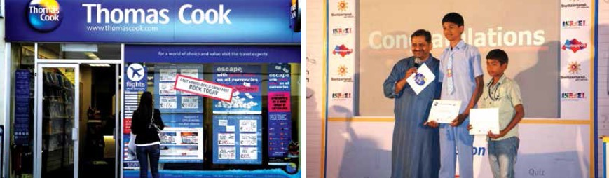 Startegies such as Travel Quest have been launched by Thomas Cook India to increase awareness among children and youngsters