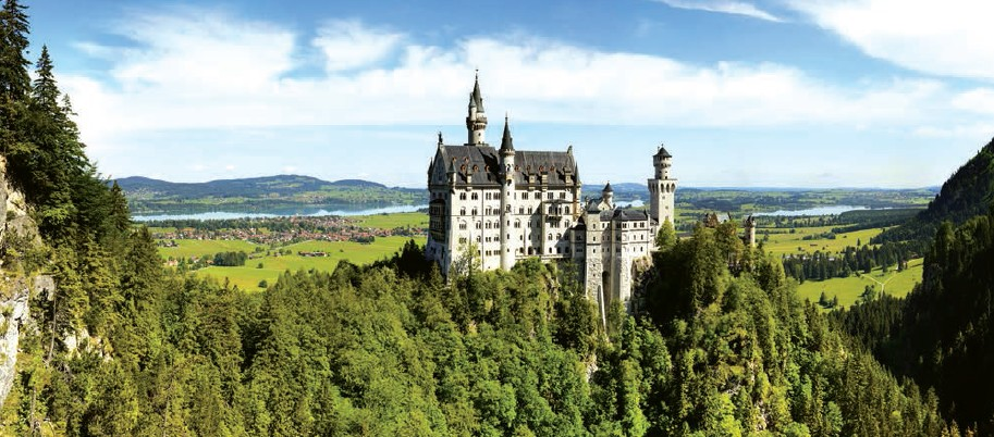 Neuschwanstein Castle near Munich in Germany, is the embodiment of 19th century romanticism