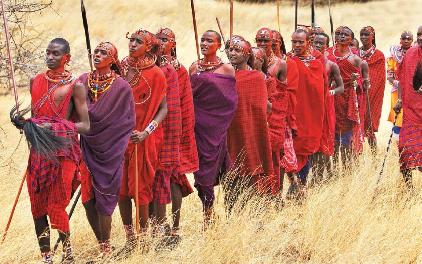 The Masai, an African tribe of semi-nomadic people located in Kenya, is one of the most familiar tribes of East Africa