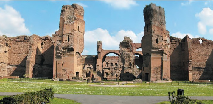 Baths of Caracalla is the most famous of all ancient Roman thermae