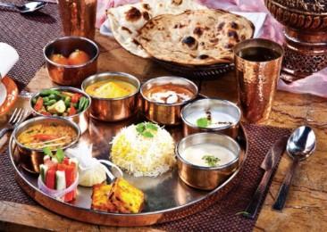 Un thali végétarien