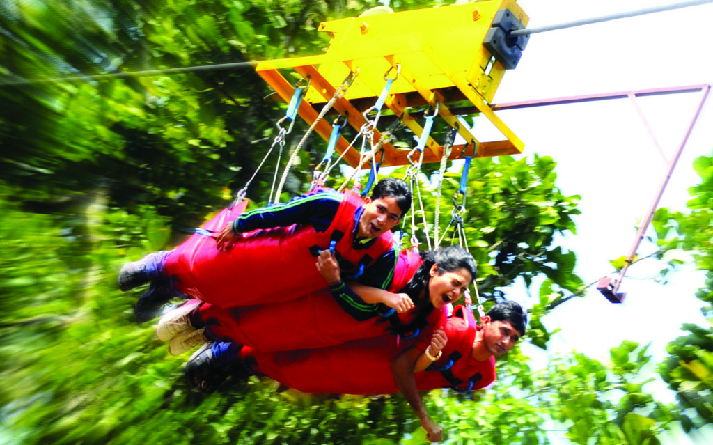 Flying Fox - the least scary activity