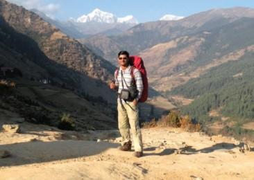 Walking the Himalayas, alone