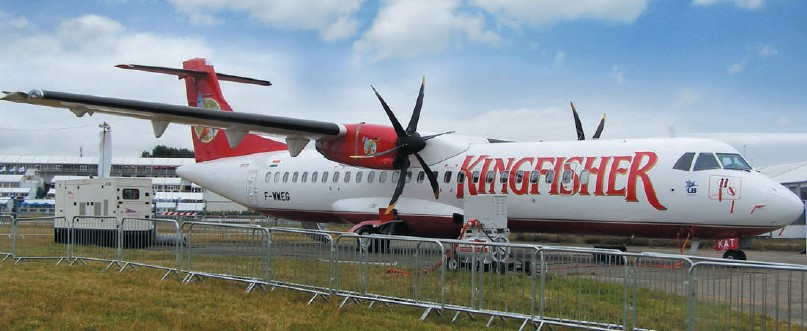 The death of Kingfisher, a large customer, struck a blow to ATR's plans in India