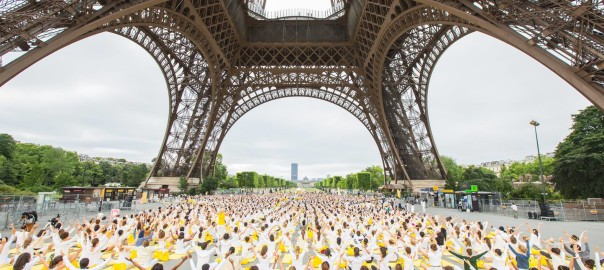 International Day of Yoga at the Eiffel Tower, in Paris