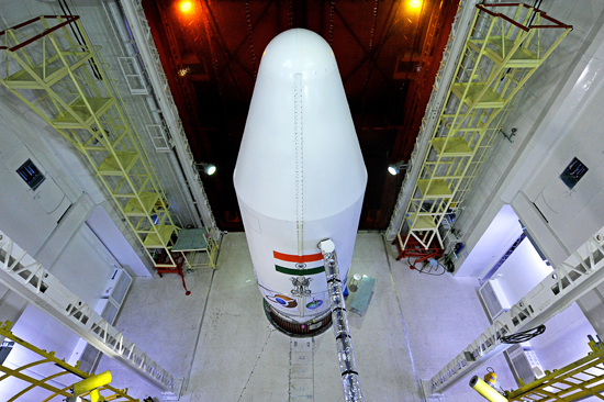 The Mars Orbiter Mission probe lifted-off from the first launch pad at Andhra Pradesh, using a polar satellite launch vehicle rocket