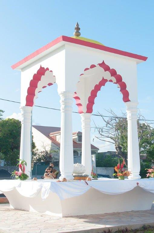 The memorial in in Capesterre-Belle-Eau dedicated to Indian workers hired in the 19th century to work in Guadeloupe