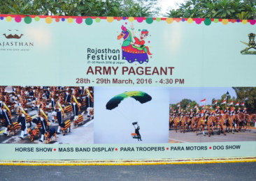 The Army Pageant at Rajasthan Diwas
