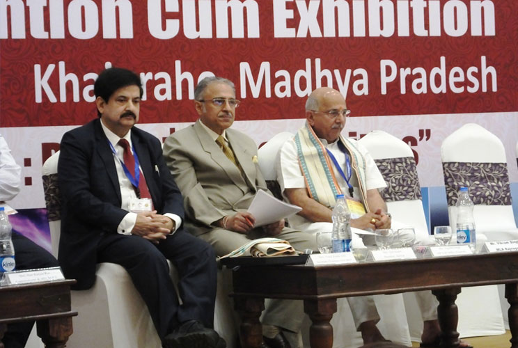 From left to right: Vinod Zutshi, Jyoti Kapur and Nagendra Singh as the esteemed Guest of Honours