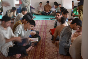 Muslim boys reciting holy Quran in a mosque. MIG:Ahmad Mukhtiyar