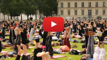 On the sidelines of International Yoga Day in Paris
