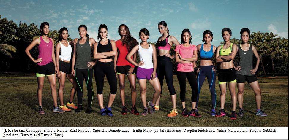 Deepika Padukone, égérie de la marque de sport, Nike.