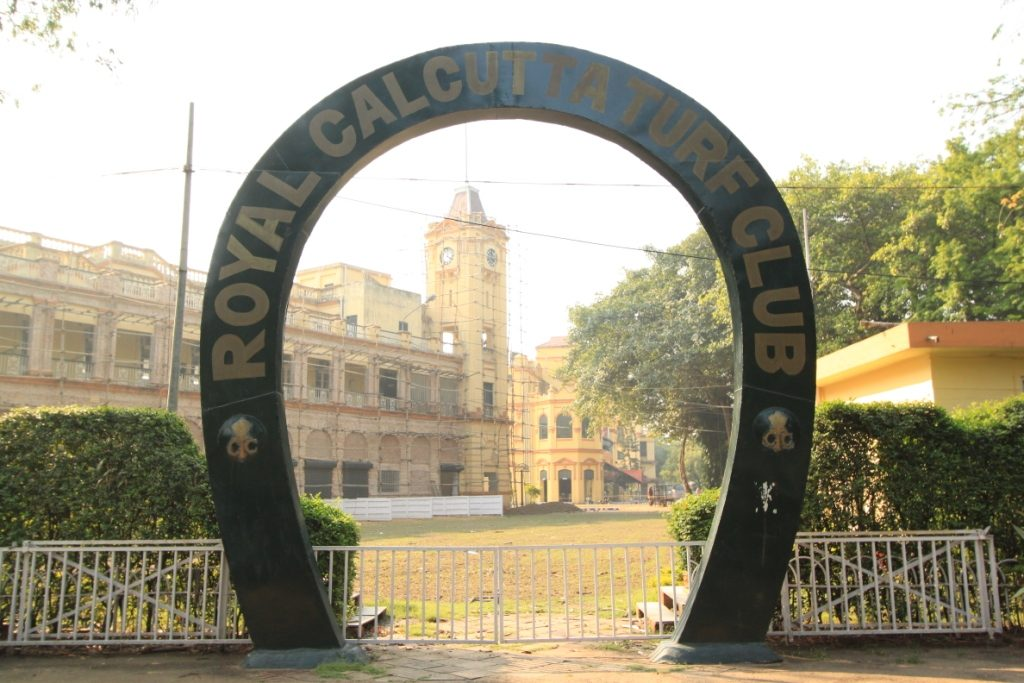 The entrance to the Royal Calcutta Turf Club, Kolkata.