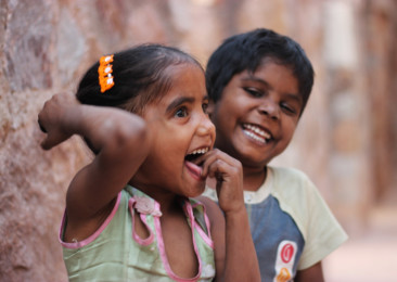Slum Kids in New Delhi