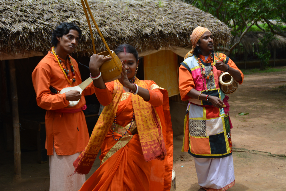 Baul - a group of mystic folk musicians performs in Satkahania village