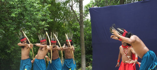 A scene from Tepantar's latest production depicting the traditional custom of hunting in tribal culture