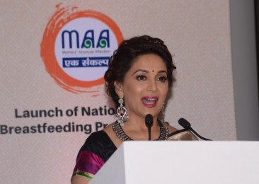 "Actress Madhuri Dixit Launches MAA, ""Mother's Absolute Affection"""