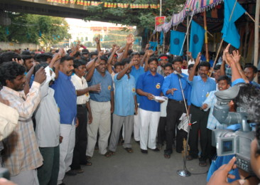 Low-caste Dalits in India protest against oppression