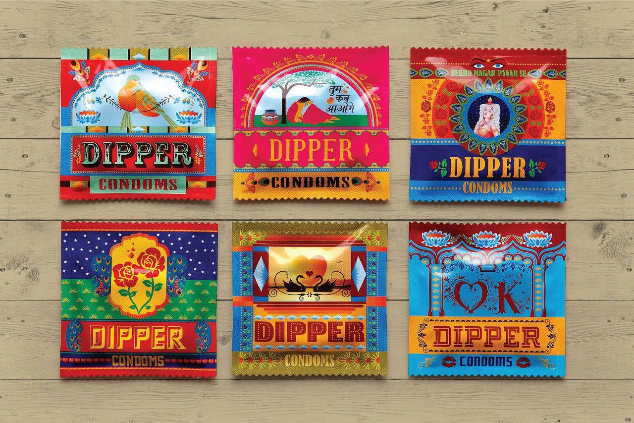 Truck Art Inspires Tata Motor S Dipper Condoms Packaging