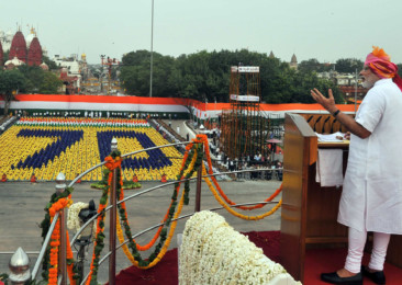 Indian PM Modi speaks on Terrorism on Independence Day