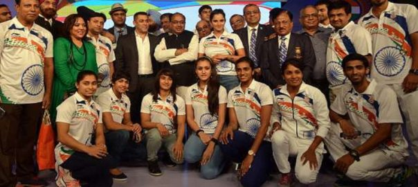 Members of the Indian team for the Olympics