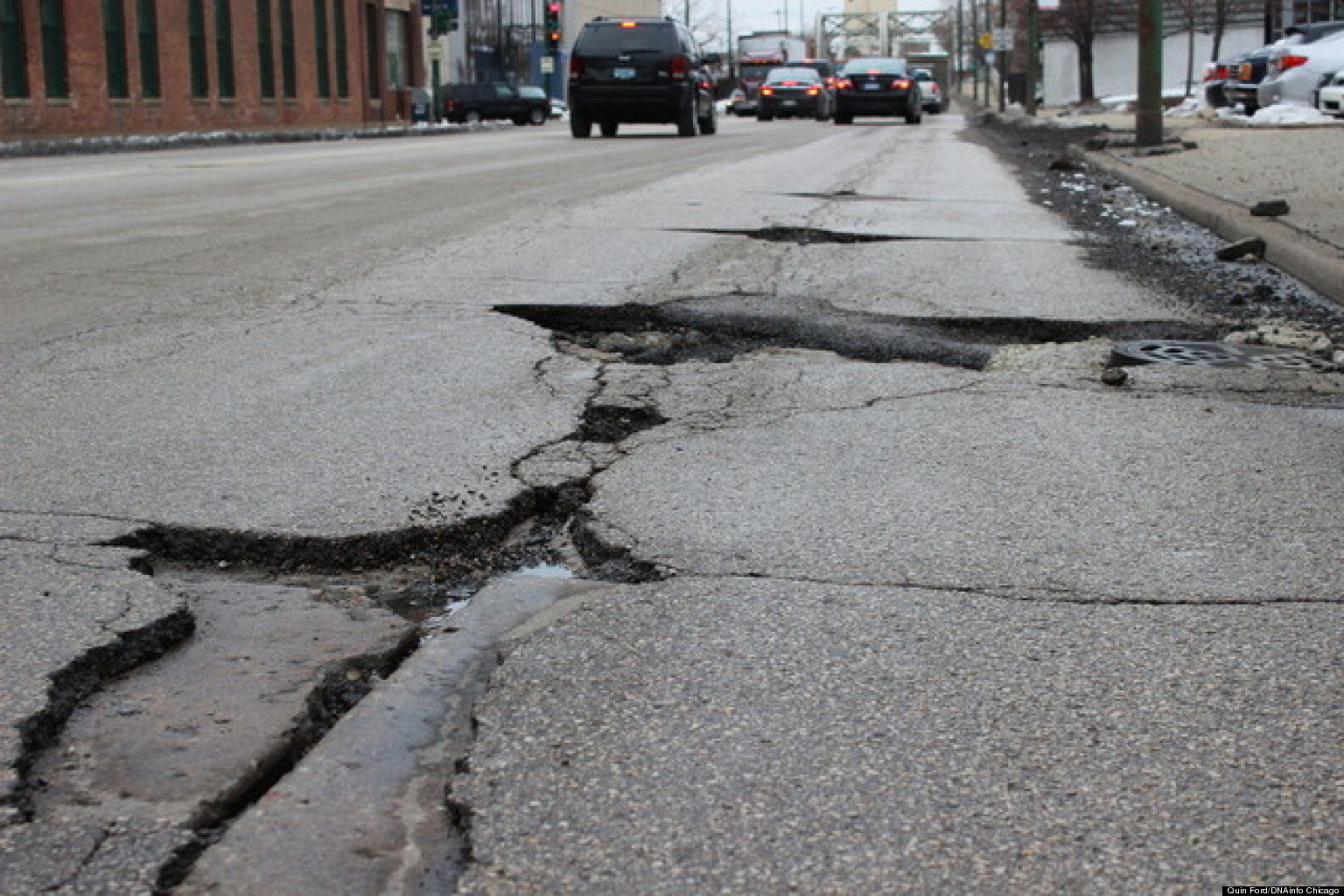 Deadly fractures on roads all around the country increase the risk of accidents