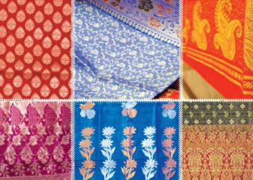 Le tissage à la main de la soie Banarasi