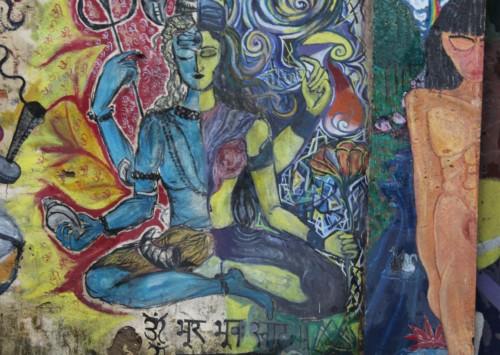 Du 'Street Art' dans le quartier de « Lodhi » à New Delhi
