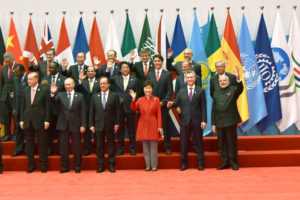 The Prime Minister, Narendra Modi with other world leaders in a family photograph, at G20 Summit 2016, in Hangzhou, China on September 04, 2016.- P.c. PIB