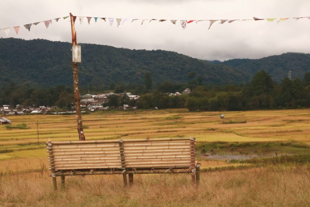 View from the ZFM grounds at Ziro valley, Arunachal Pradesh.