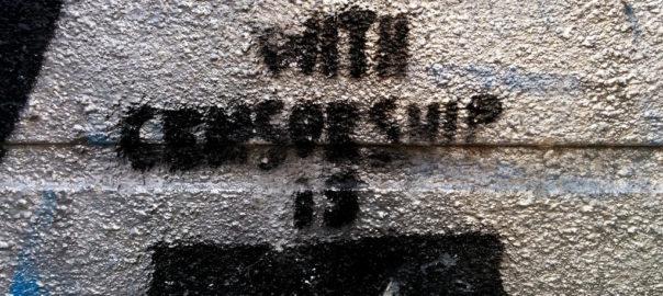 A graffiti in Budapest speaks of censorship