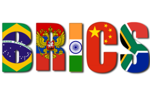 BRICS represents five major emerging national economies- Brazil, Russia, India, China and South Africa.