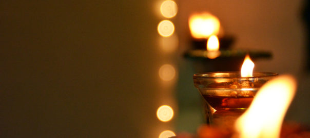Lighting a diya (earthern lamp) during special occasions is considered auspicious in India
