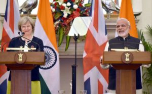 UK PM Theresa May and Indian PM Narendra Modi spoke to the press from New Delhi, the capital of India.