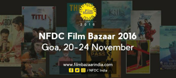 Film Bazaar is held every year at the Marriott Resort, Goa, India, between November 20 and 24