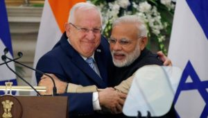 Israeli President met the Indian PM yesterday. Picture- PIB
