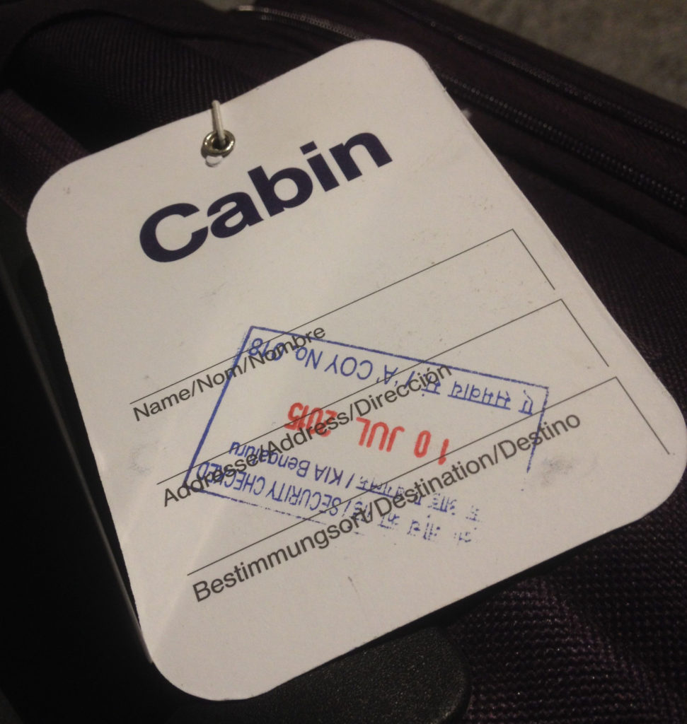 The stamp ensures that the baggage has been thoroughly checked and is safe to be carried in the plane